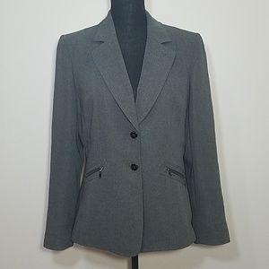 Tahari Modern Cut Gray Blazer NWOT